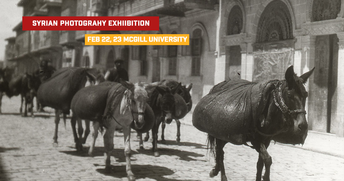 Syrian photography exhibition McGill