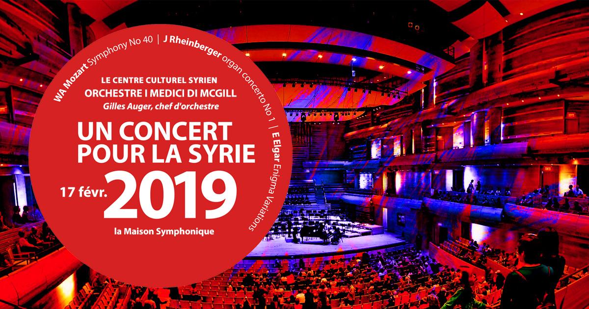 Un Concert pour la Syrie 2019